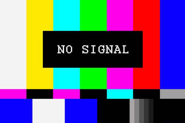 kein signal tv testbild hintergrund - raumteiler weiß stock-fotos und bilder