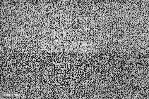 No signal TV texture. Television grainy noise effect as a background. No signal retro vintage television pattern. Interfering signal in analog television