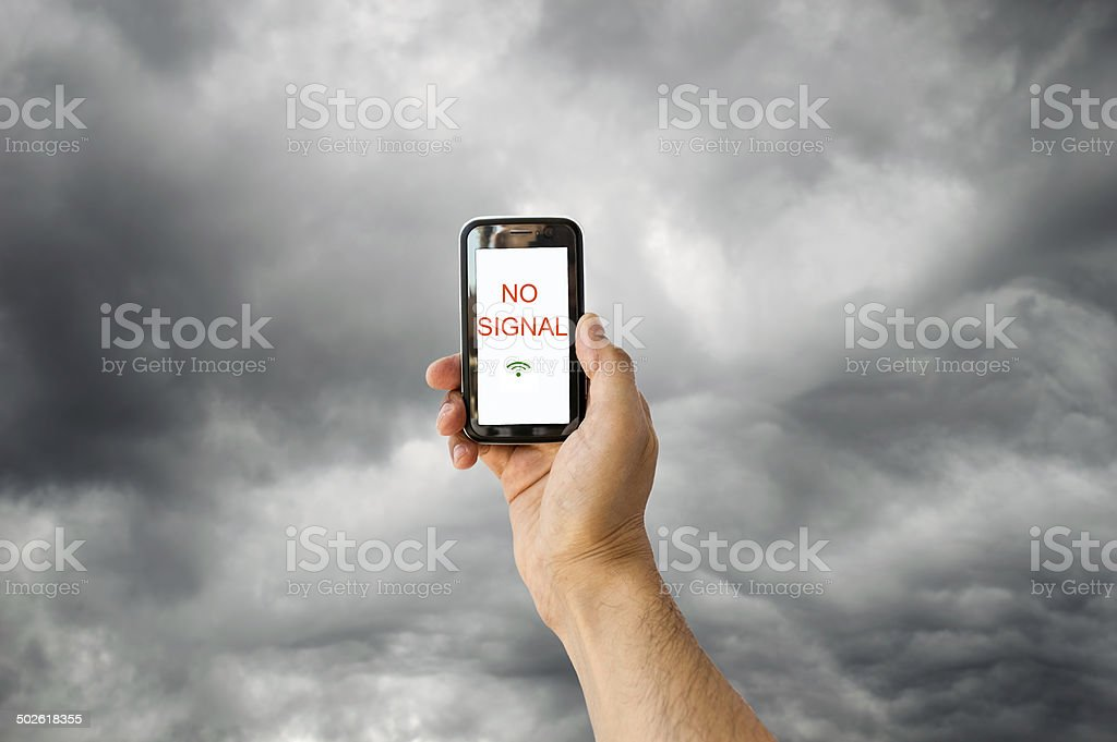 no signal with this stormy sky stock photo