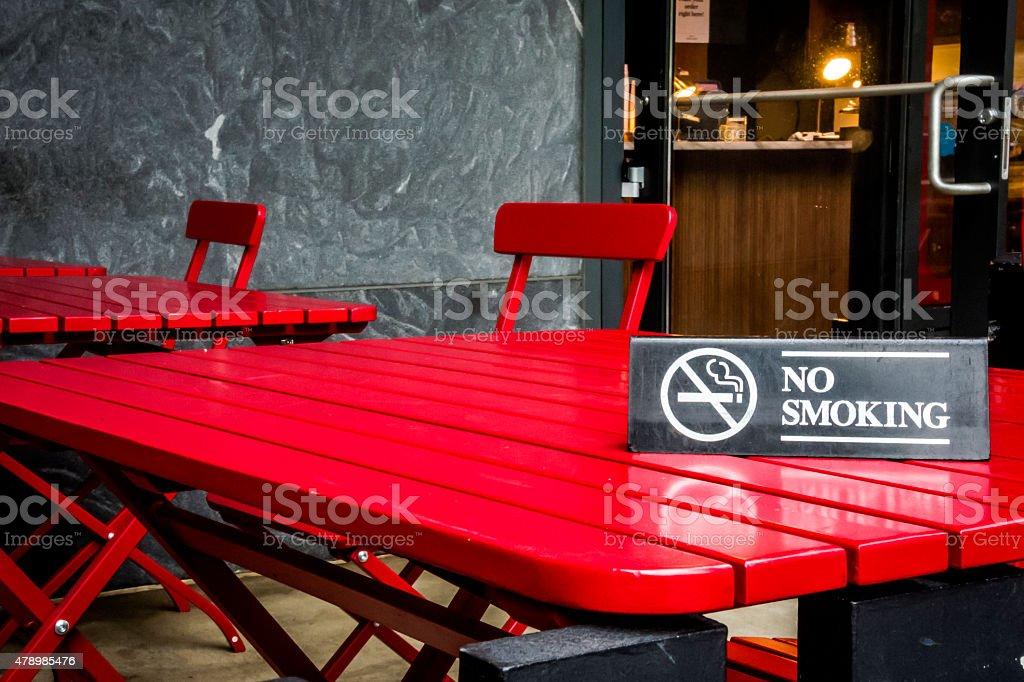 No smokin' sign stock photo