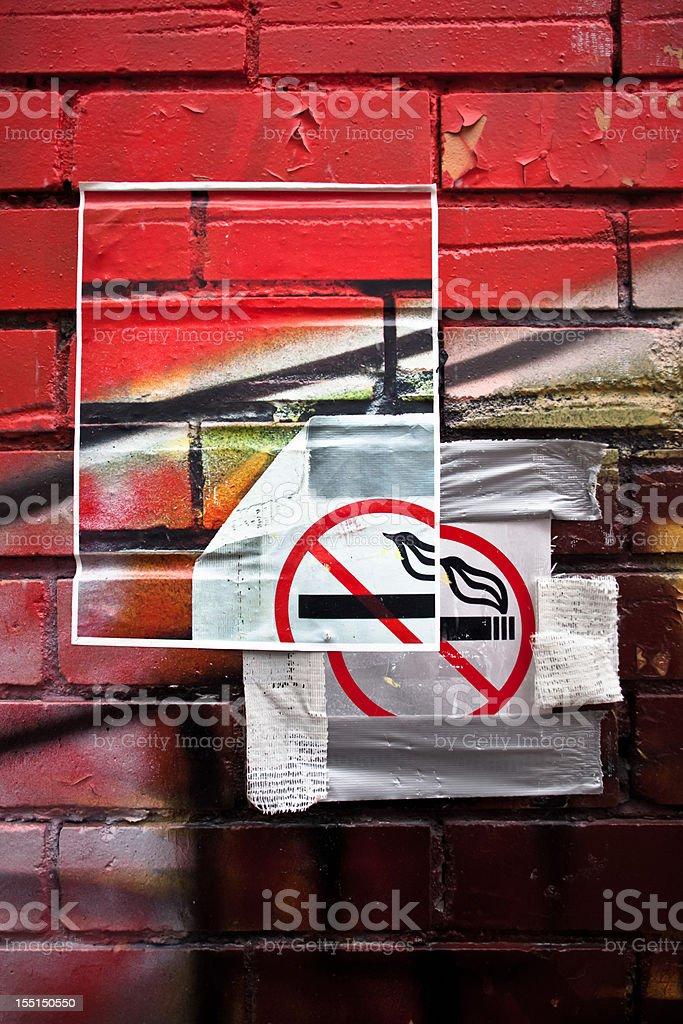 No smoking a joint royalty-free stock photo
