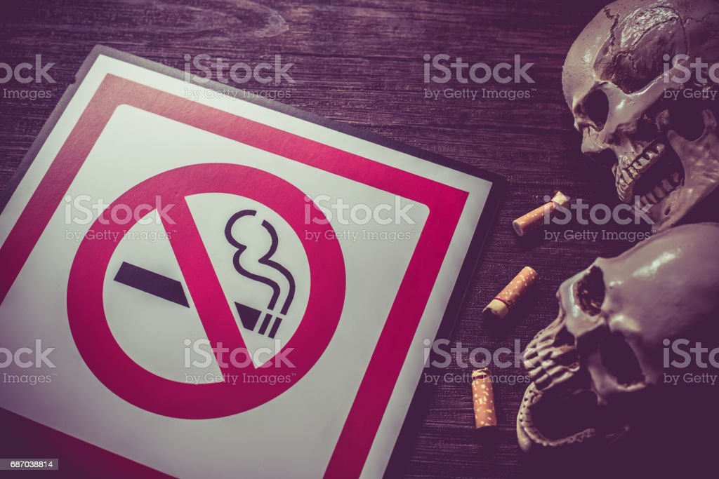 Kein Rauchen und Weltnichtrauchertag Lizenzfreies stock-foto