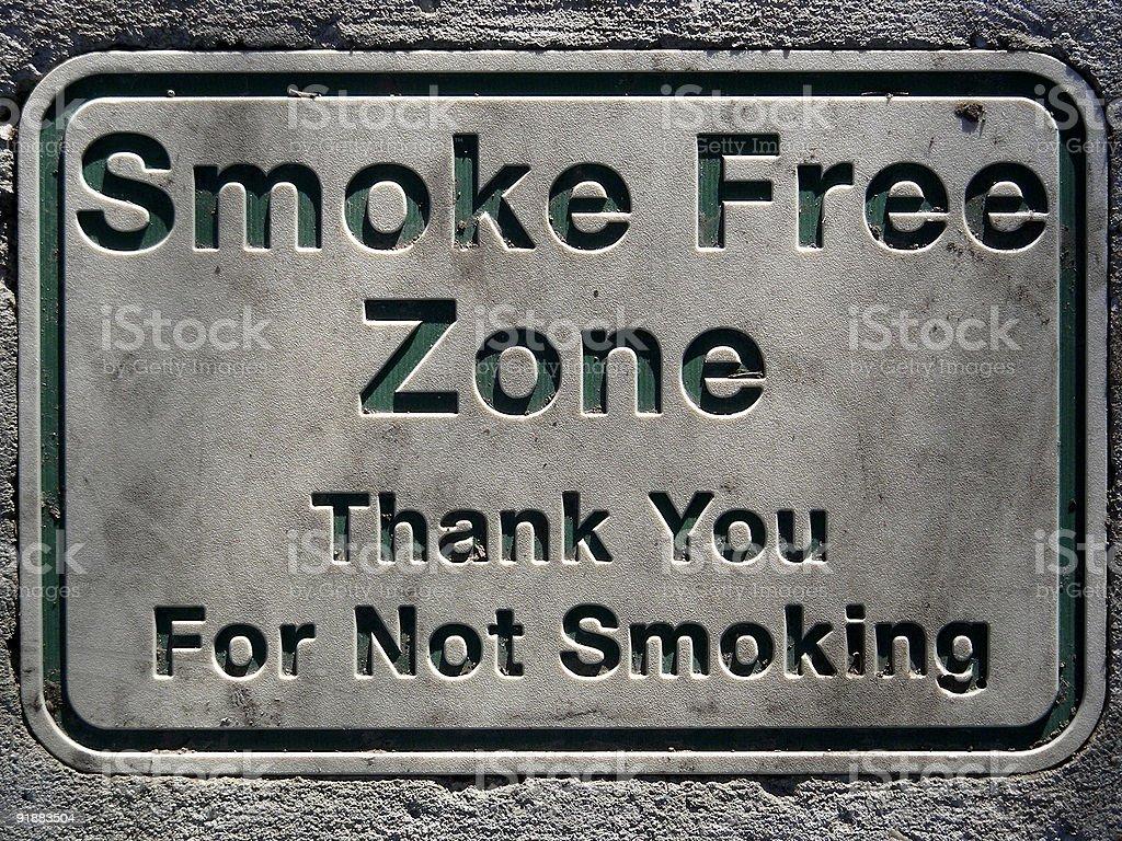 No Smoking in Stone stock photo