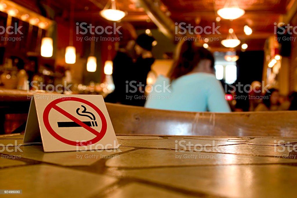 No Smoking on these premises stock photo