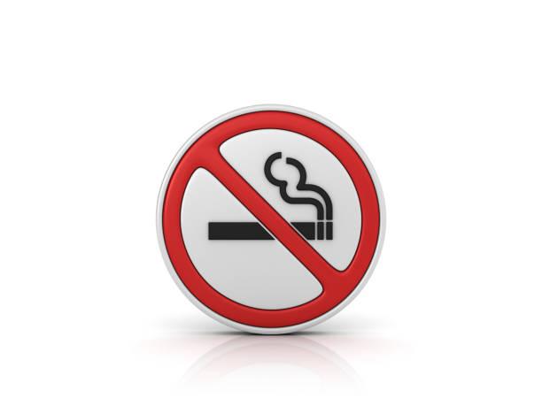 Kein Rauchen Straßenschild - 3D Rendering – Foto