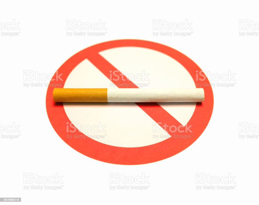 No smoking sign isolated on white background stock photo