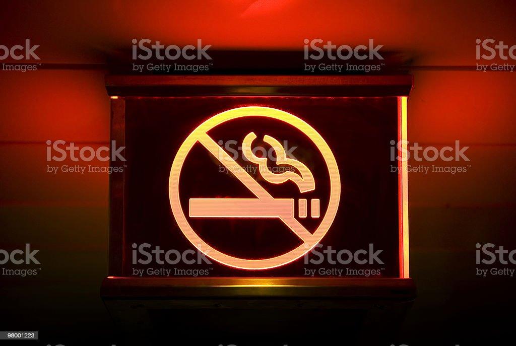 No smoking sign royalty free stockfoto