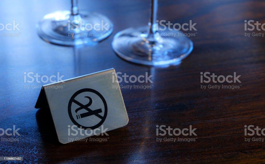 No Smoking Sign - Restaurant - Hotel - Bar. Smoking in restaurants...