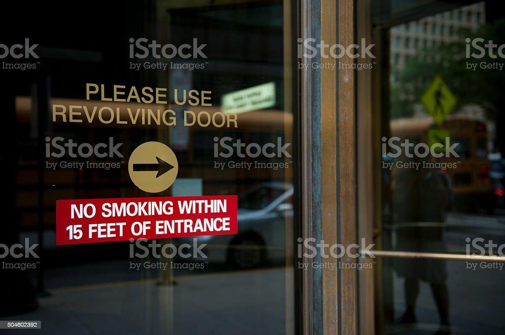 No Smoking Zone stock photo
