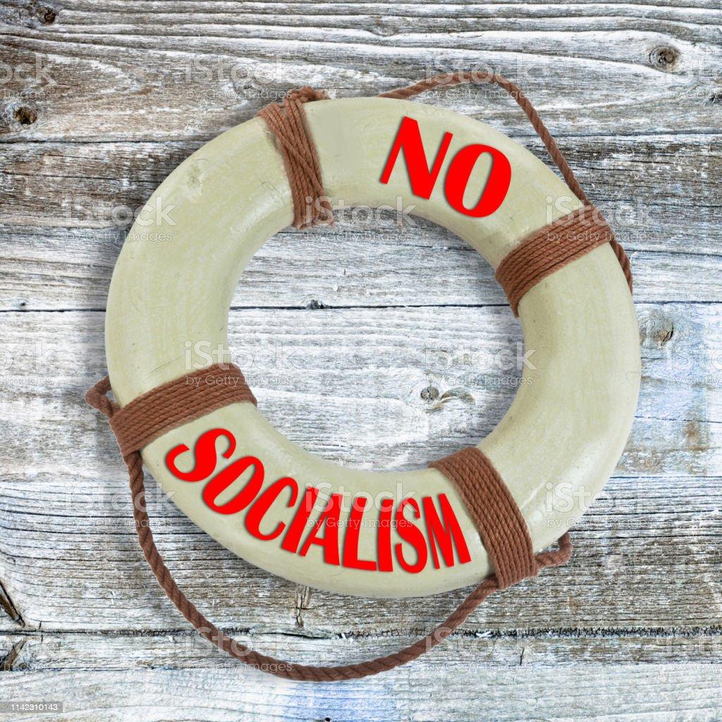 No Socialist Lifesaver. royalty-free stock photo