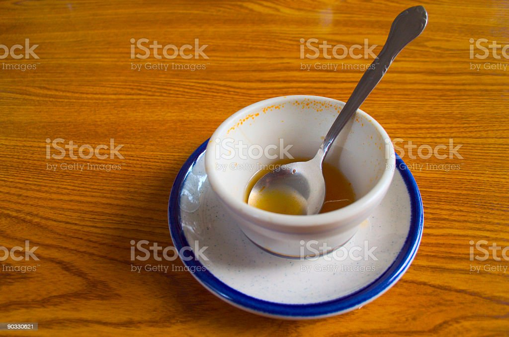 No soup for you! stock photo