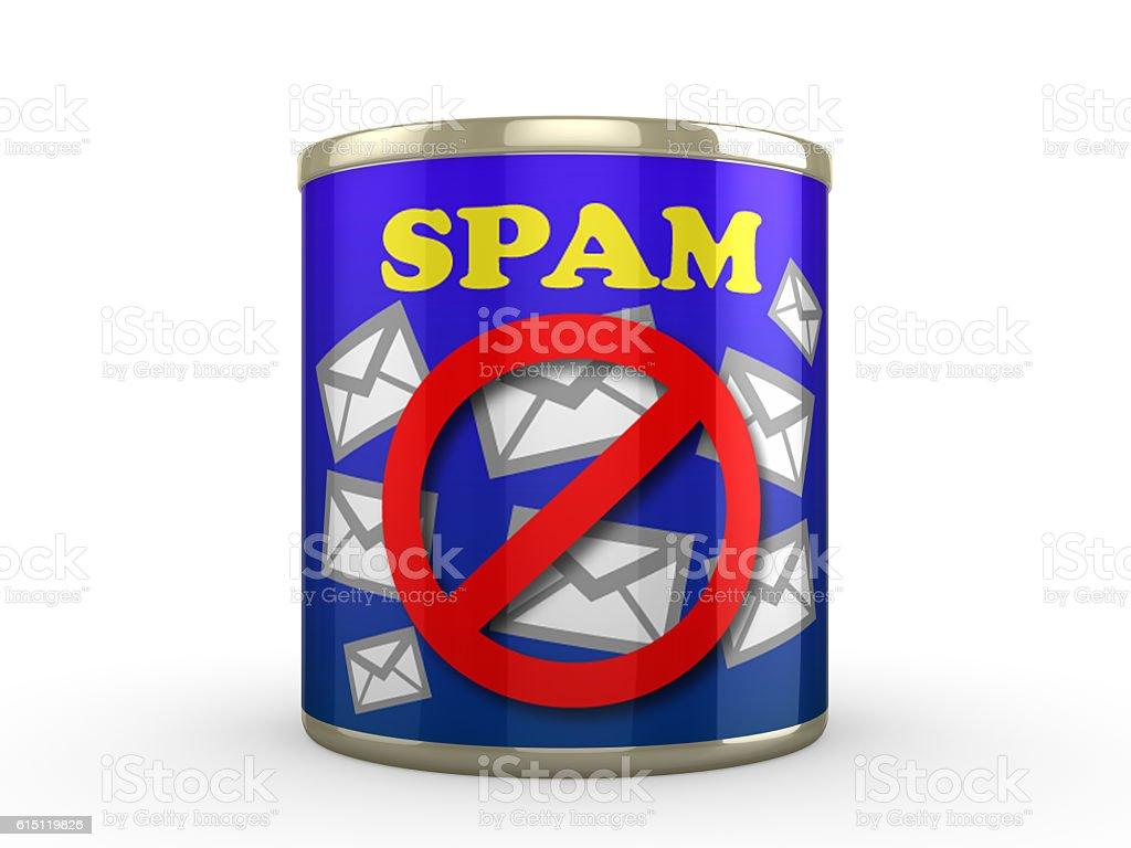 No Spam Tin stock photo