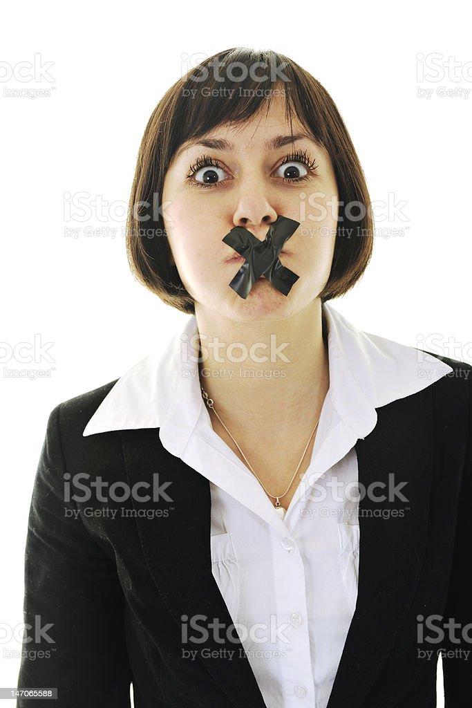 no speech royalty-free stock photo