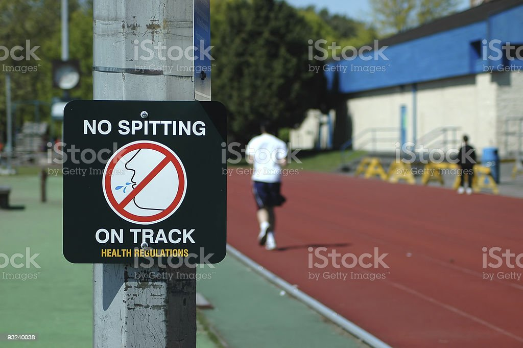 No Spitting Sign royalty-free stock photo