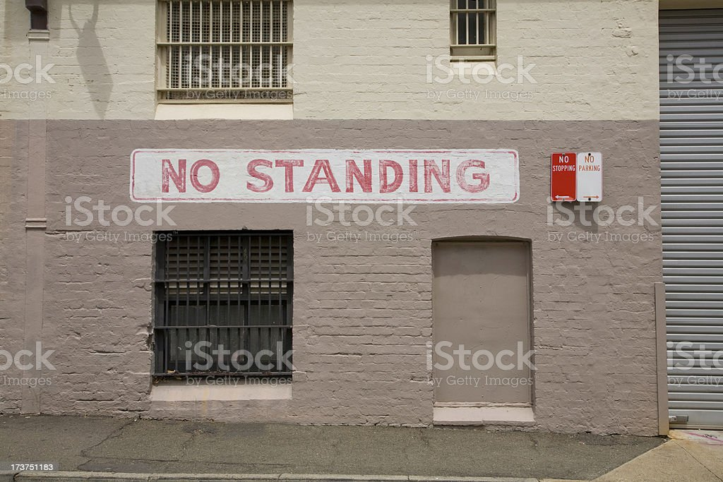 No Standing royalty-free stock photo