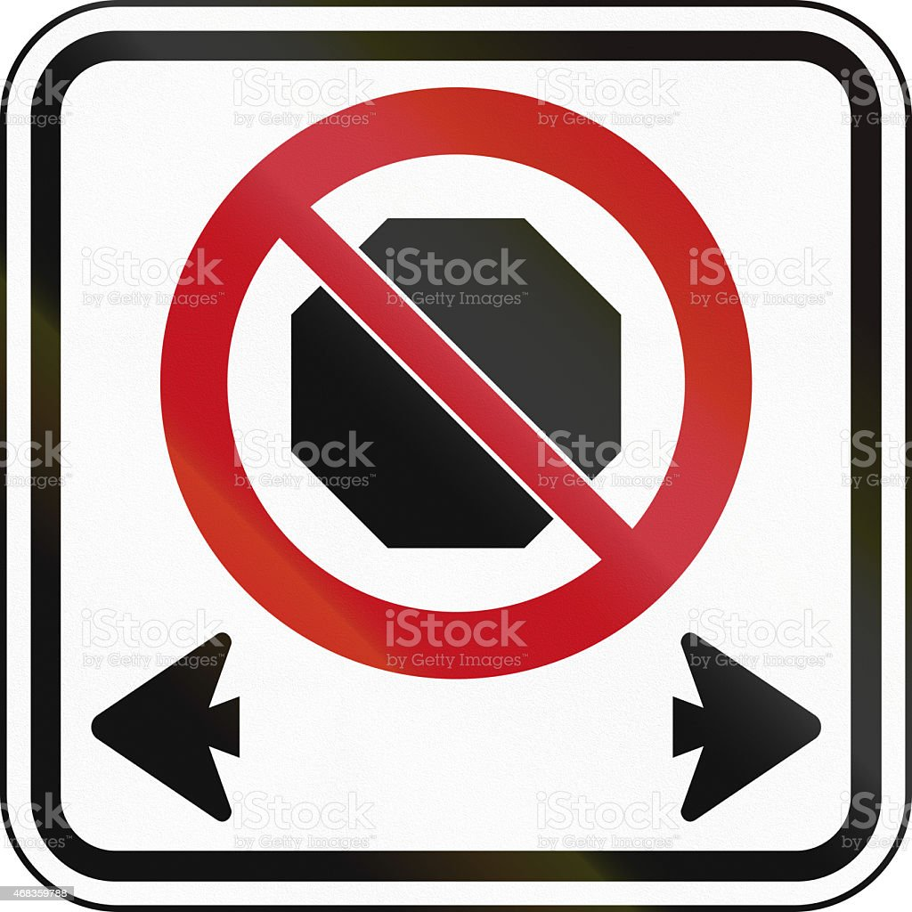 No Stopping In Canada royalty-free stock photo