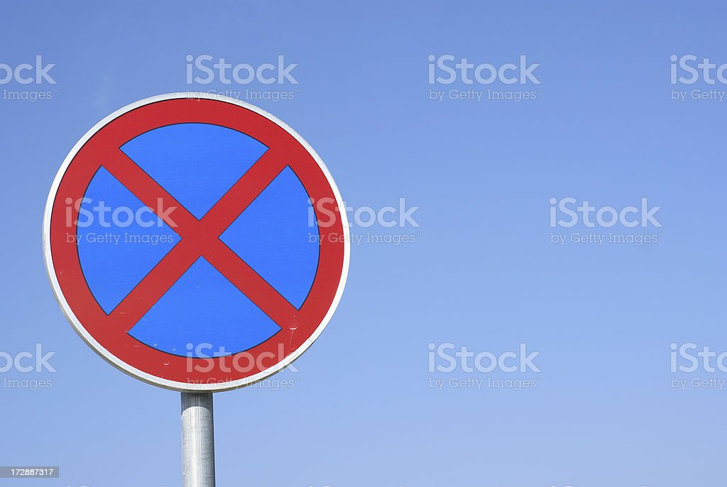 No stopping /parking traffic sign stock photo