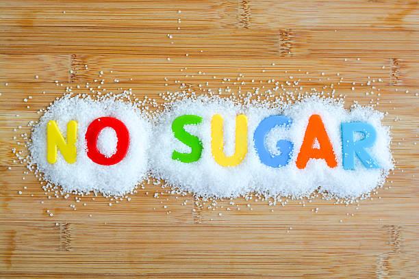 keinen zucker ernährung für einen gesunden lebensstil - zuckerfreie lebensmittel stock-fotos und bilder