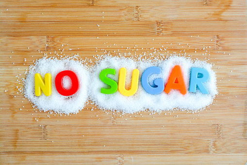 No Sugar Diet For A Healthy Lifestyle Stock Photo - Download Image Now
