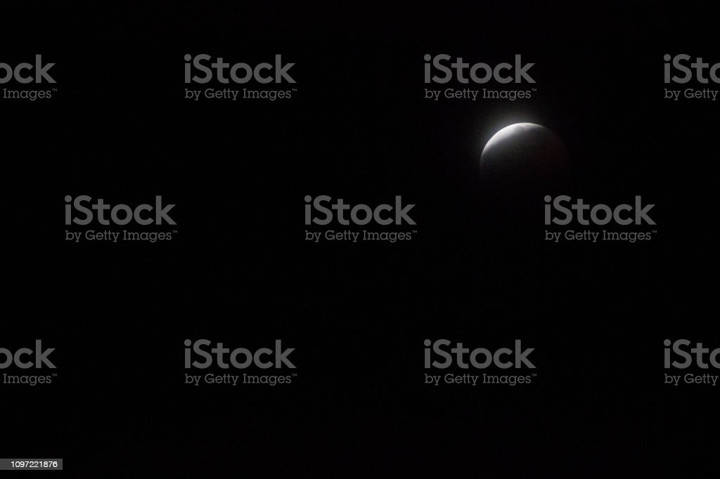 No Super Red Blood Moon Eclipse 2019 stock photo