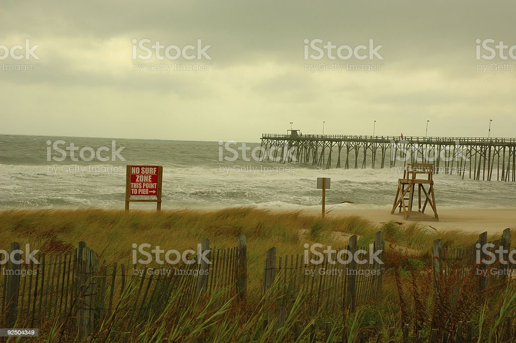 No Surf Zone royalty-free stock photo