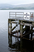 istock No swimming at pier jetty deep water Loch Lomond Luss warning sign danger of death 961237950