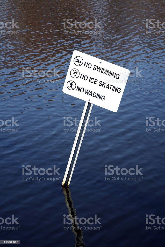 No Swimming Sign royalty-free stock photo