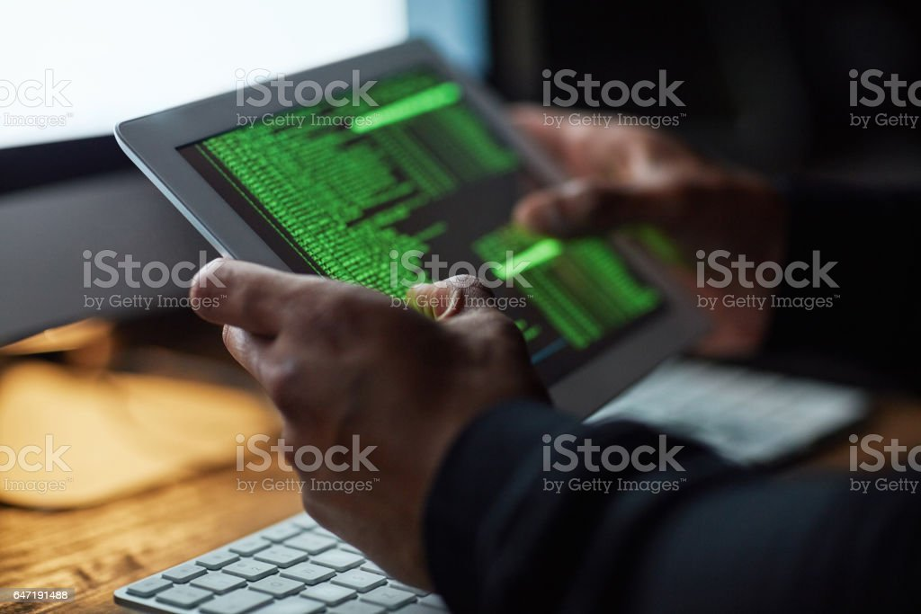 No system is uncrackable stock photo