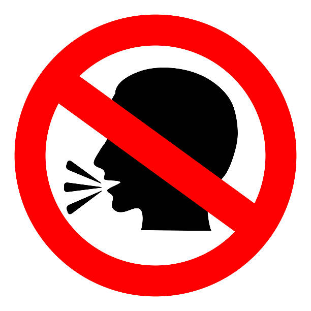 No talking sign No talking sign isolated on white finger on lips stock pictures, royalty-free photos & images