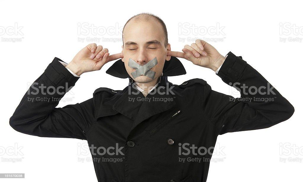 no talking speaking hearing stock photo