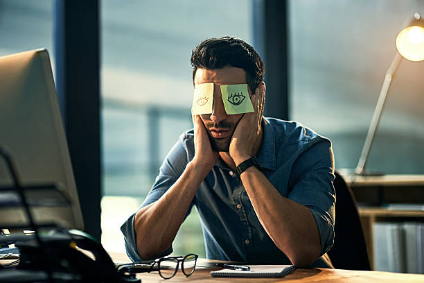 no time to sleep - tedious stock photos and pictures