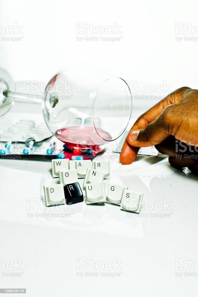 No To Hard Drugs, Alcohol Abuse And Driving Under The Influence (DUI) stock photo