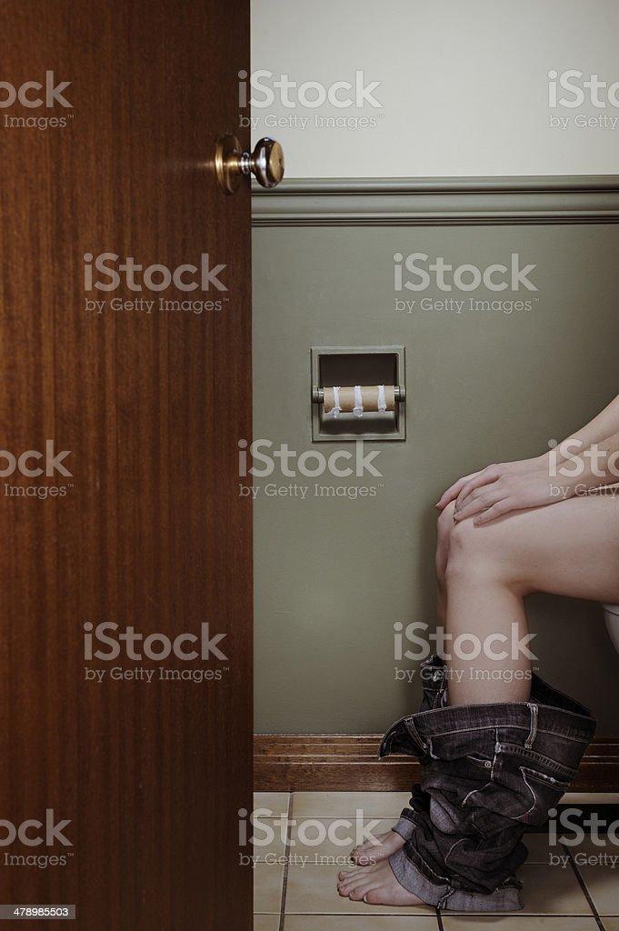 No Toilet Paper stock photo