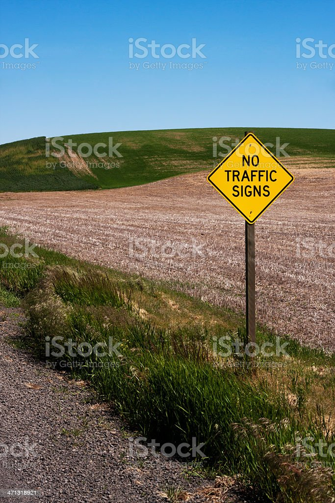 No Traffic Signs Sign stock photo