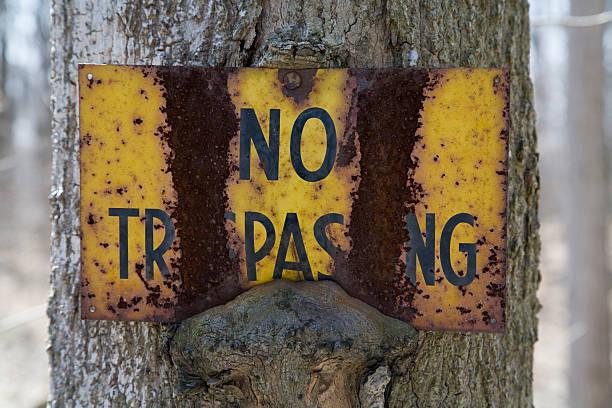 No Trespass stock photo