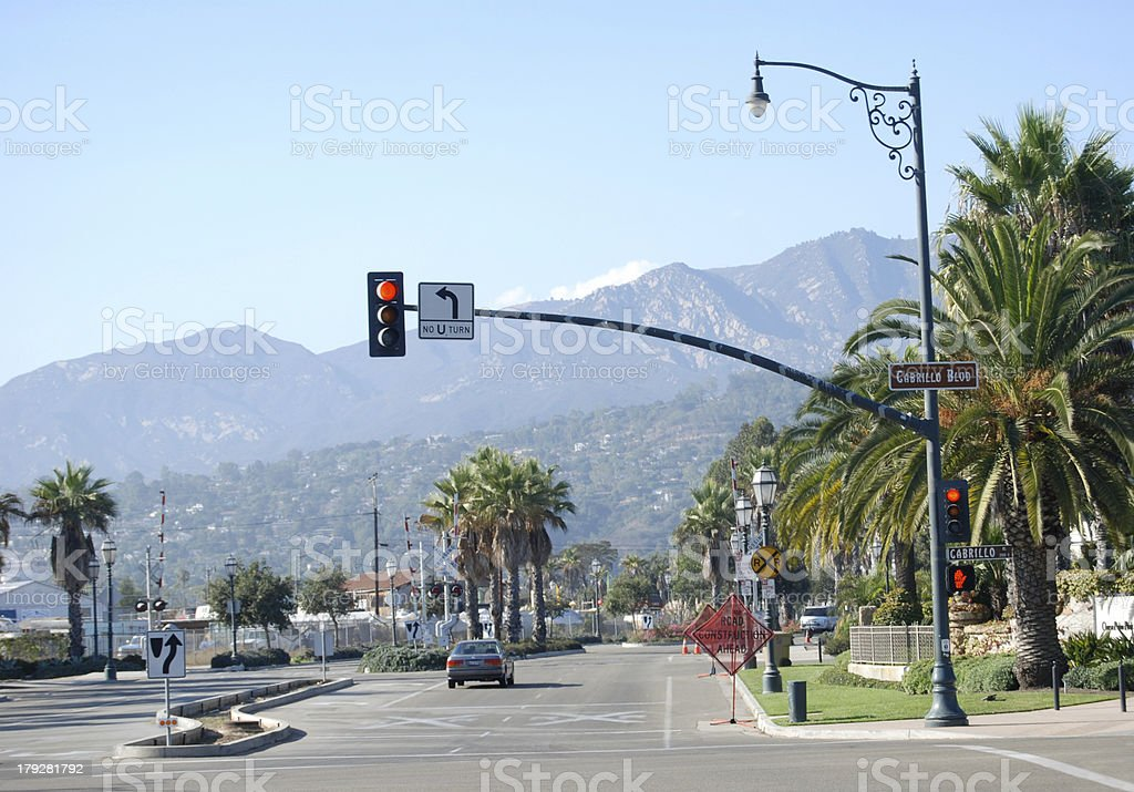 No U Turn and RR Crossing Sign royalty-free stock photo