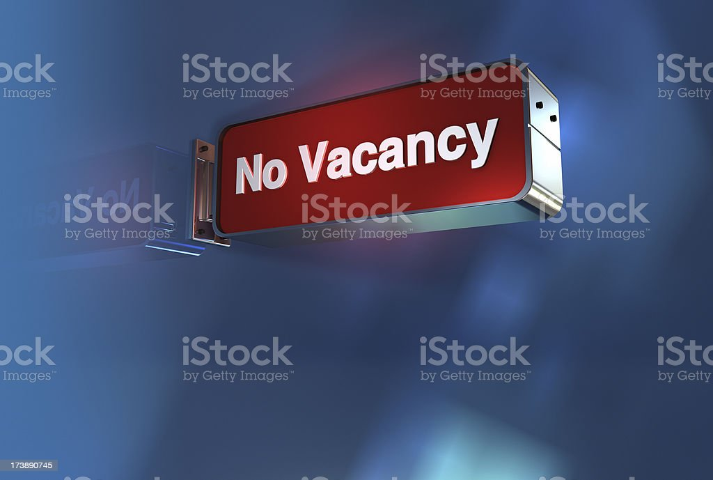 No Vacancy royalty-free stock photo