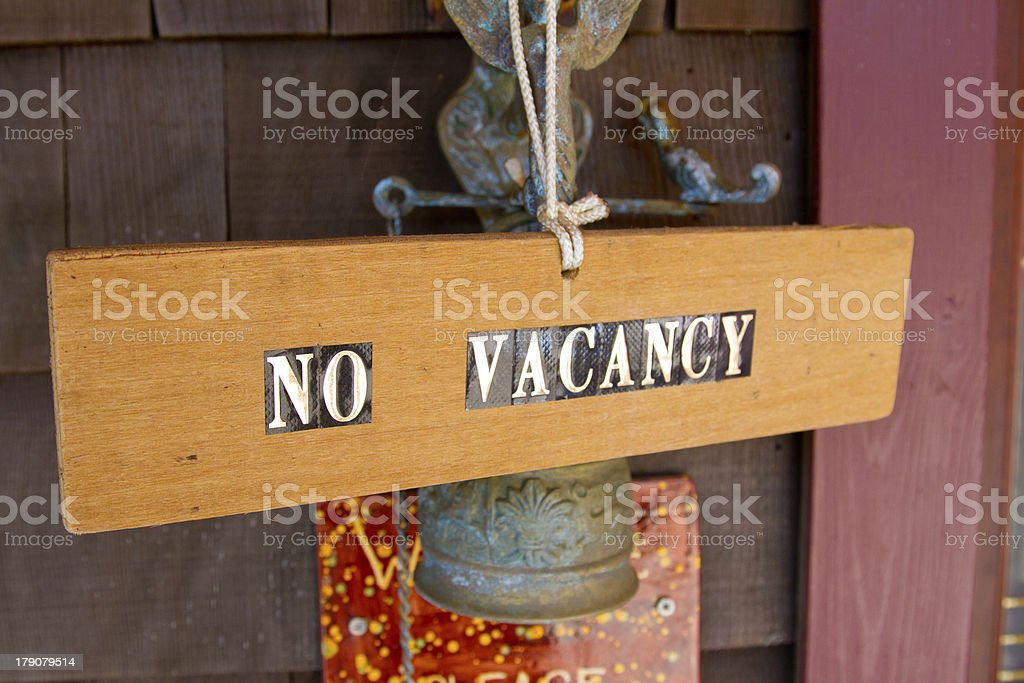 No Vacancy royalty-free stock photo