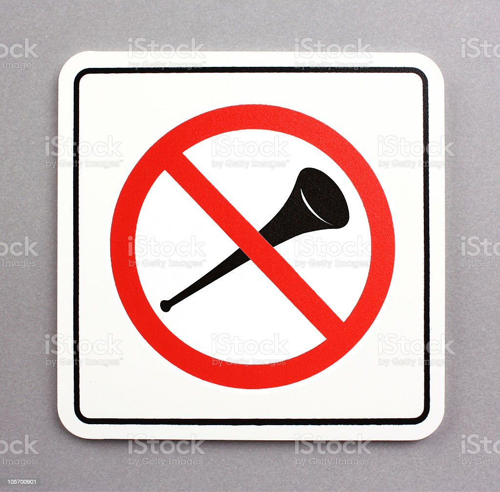 No vuvuzela royalty-free stock photo