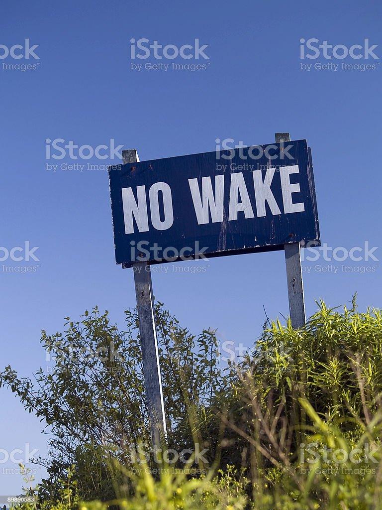 No Wake royalty-free stock photo