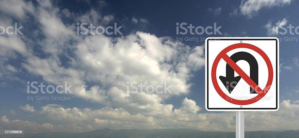 No Way Back Sign royalty-free stock photo