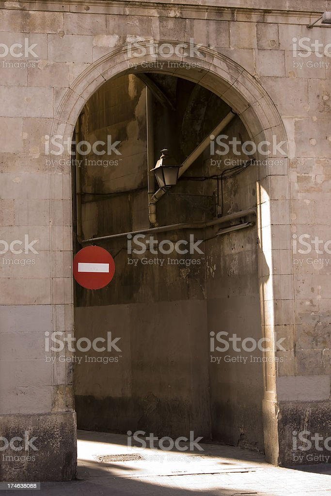 No way in royalty-free stock photo