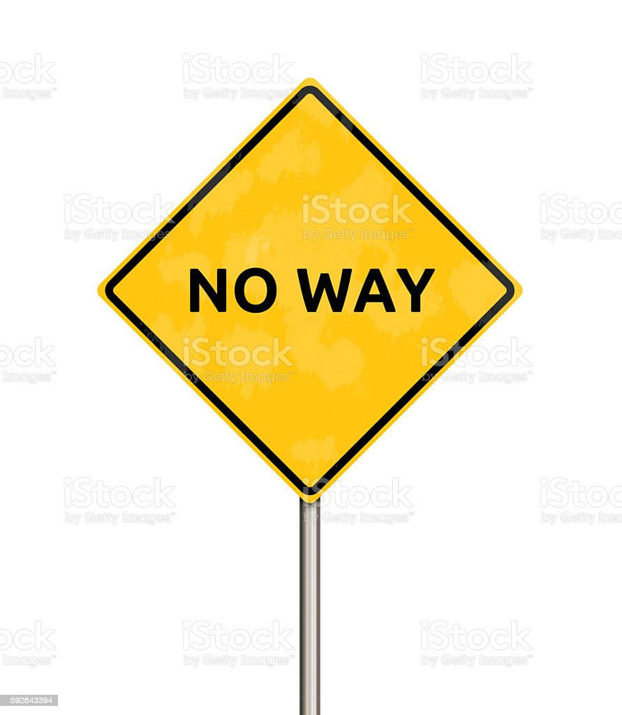 no way - sign stock photo