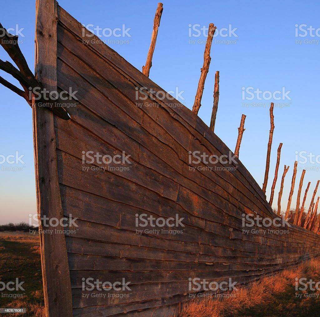 Noah's Ark at sunset royalty-free stock photo