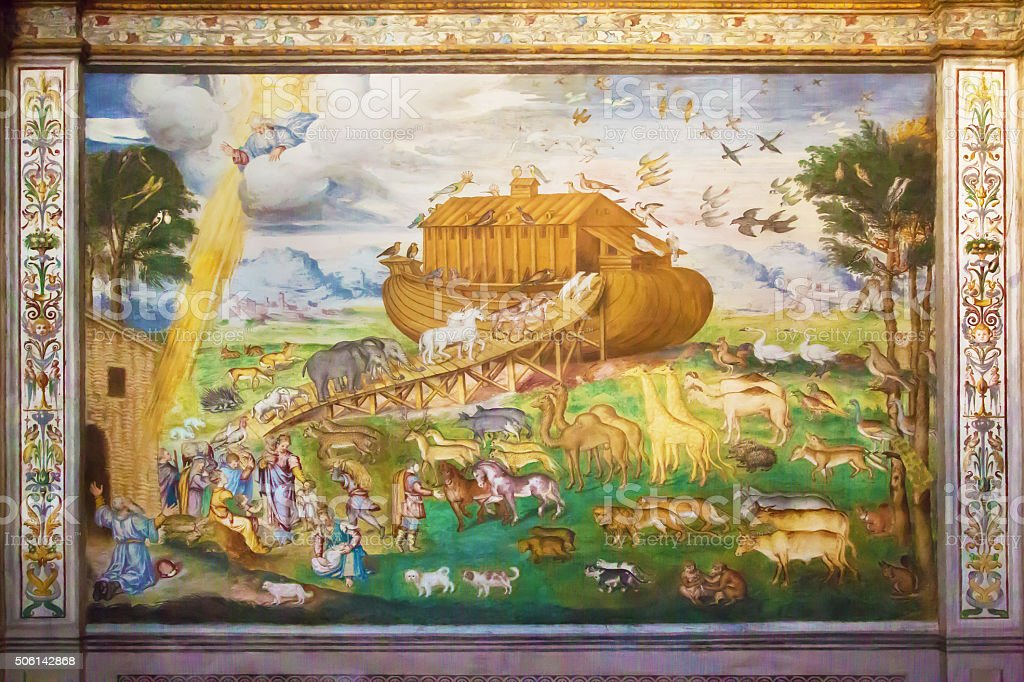 Noah's Ark on italian fresco stock photo