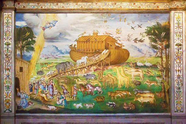 Arche de Noé Ark italien fresque - Photo