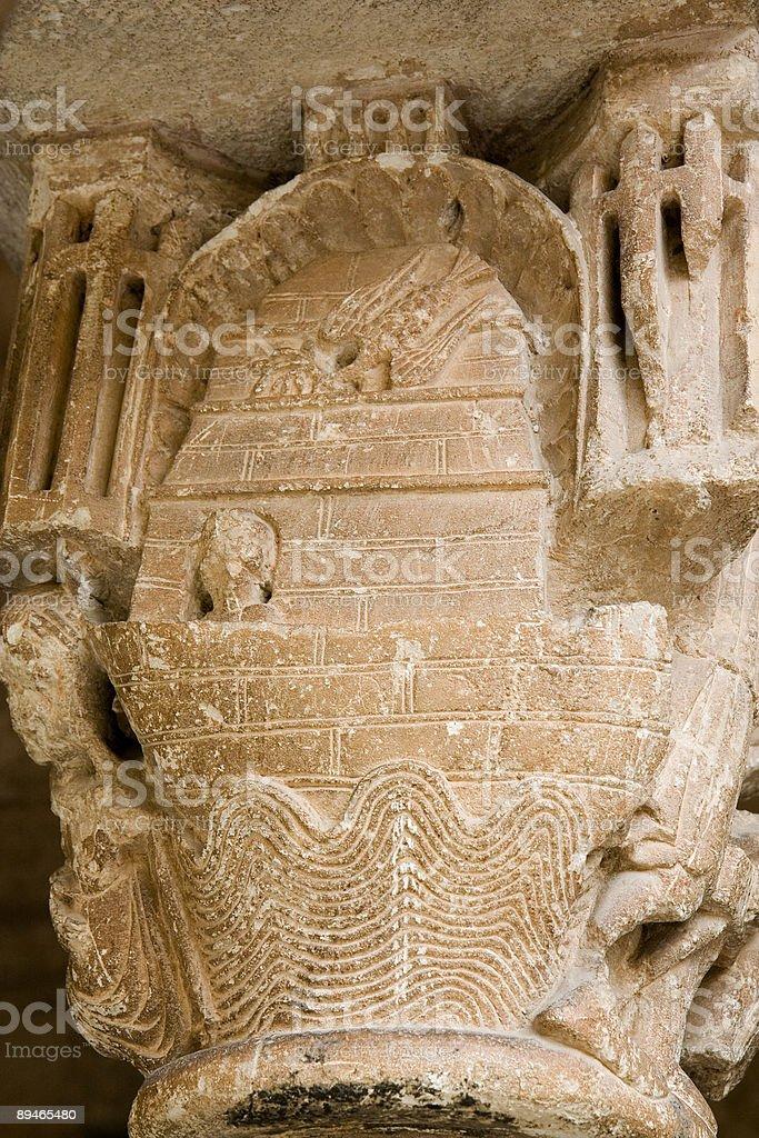 Arche. de Noé Époque romane capitale photo libre de droits
