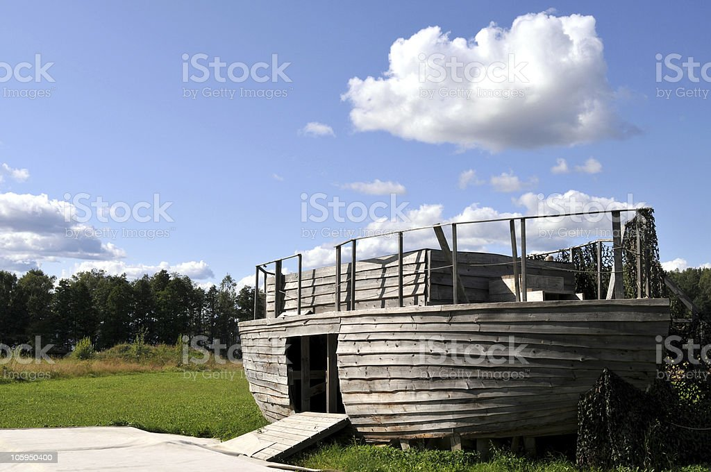 Noah's ark, with doors open royalty-free stock photo