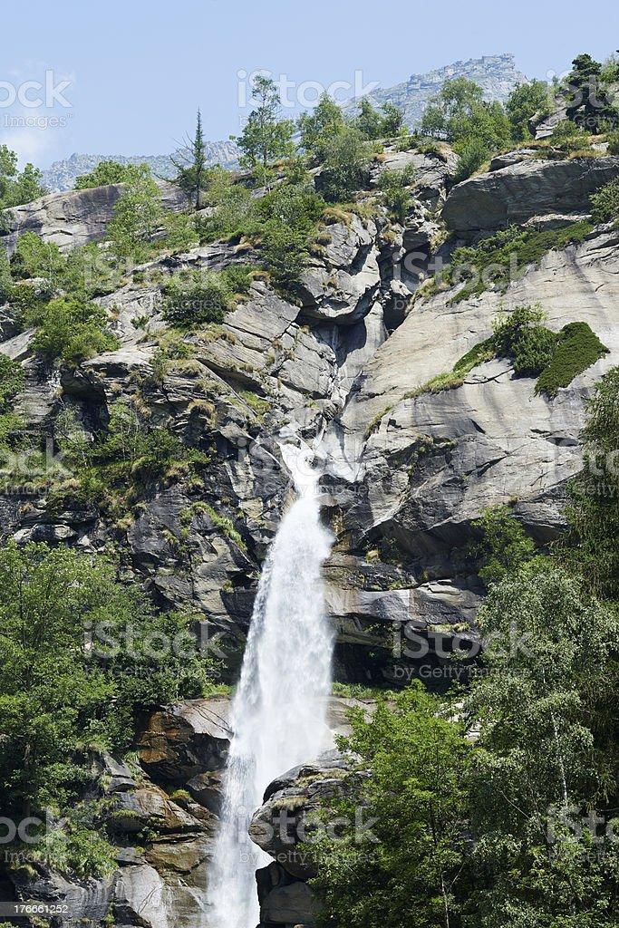 Noasca Waterfall royalty-free stock photo