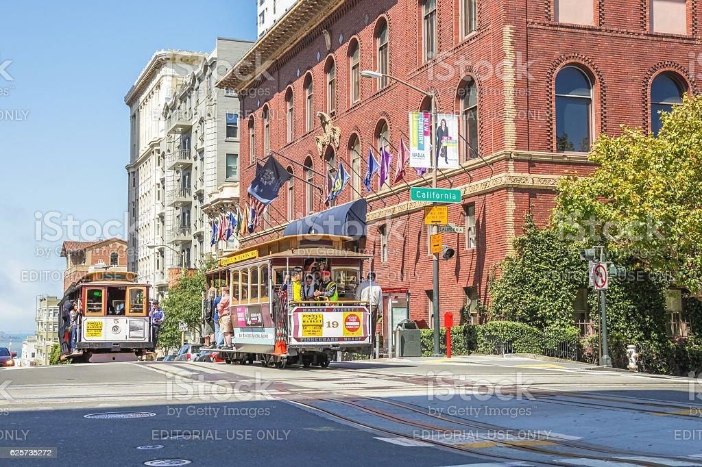 Nob Hill San Francisco stock photo